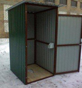 Туалеты и душевые из проф.листа