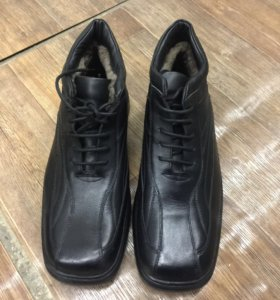 Ботинки мужские зимние кожаные с натуральным мехом