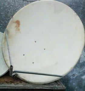 Спутниковая тарелка б/у.