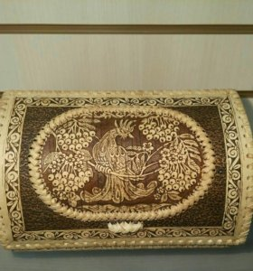 Подарок, хлебница из бересты