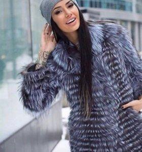 Новые Пальто из чернобурки