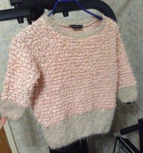 Розово-серая кофта