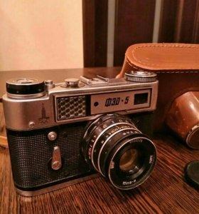 Фотоаппарат ФЭД-5, с чехлом