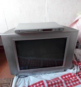 Телевизор+двд плеер