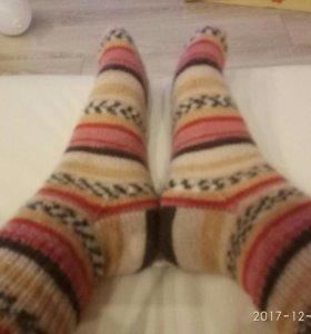 Носки шерстяные ручная работа