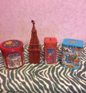 подарочные новогодние коробочки из под конфет