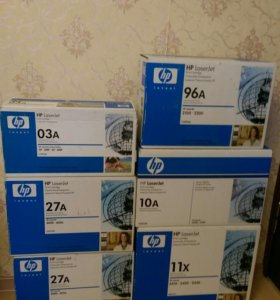 Картриджи HP 03A 10A 11X 61X 96A