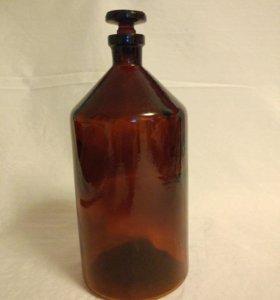 Бутыль стеклянная темное стекло 1 литр