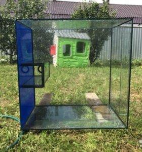 Продам аквариум 850мм х 850мм х 550мм.