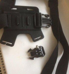 Крепления на грудь и лоб для экшн камеры новые