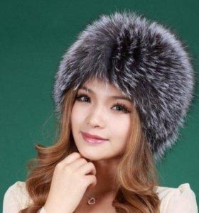 Новая меховая шапка (натуральный мех лисы)