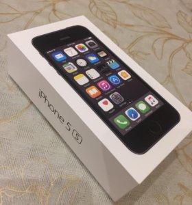 Айфон 5s +кожаный чехол