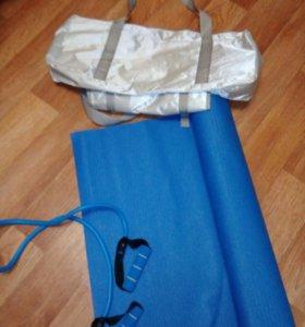 Коврик для йоги в сумке+ремень