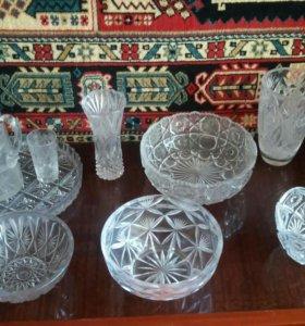 набор посуды из хрусталя