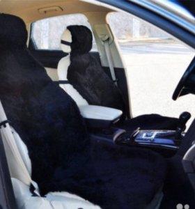Накидки меховые на сиденье подарок оплетка на руль