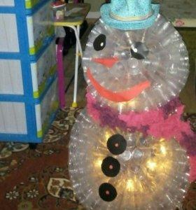 Снеговик поделка в сад или для дома