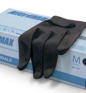 Перчатки нитриловые необпудреные