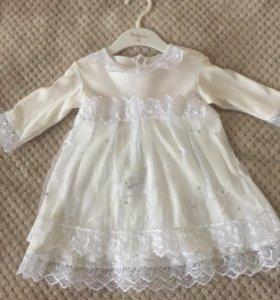 Платье на девочку 2-5 месяцев и 4-6 месяцев