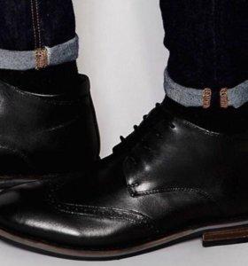 Кожаные броги Dune чёрные ботинки