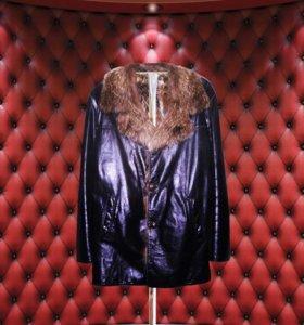 Брутальная мужская кожаная куртка из волка