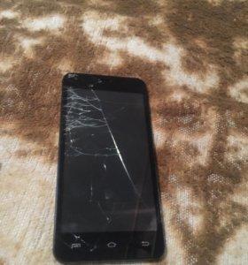 Смартфон irbis, рабочий, разбит экран