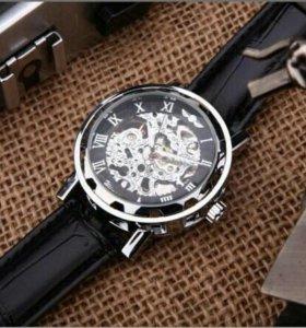 Часы Скелетоны Winner black