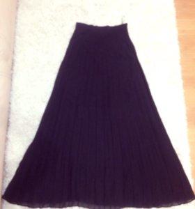 Чёрная шифоновая юбка