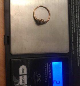Золоте Колечко с Бриллиантом 585 пробы