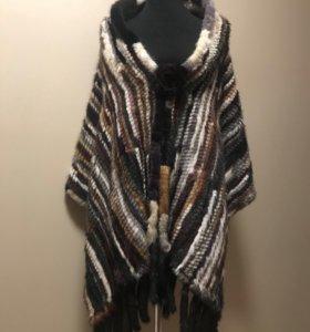 Палантин из вязаной норки «кензо» 55 ширина