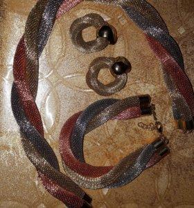 Комплект ( браслет, серьги, ожерелье)