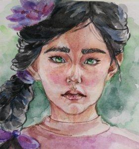 Рисую портреты на заказ:)