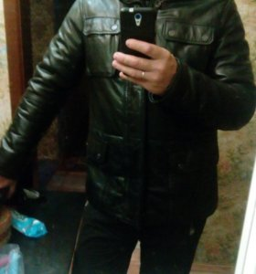 мужская куртка коженная