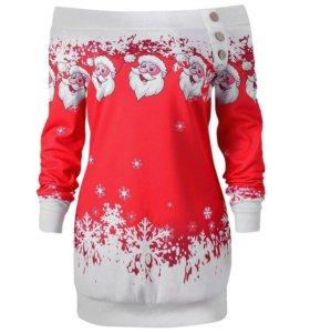 Туника,платье,свитшот новогодний принт!!!НОВАЯ