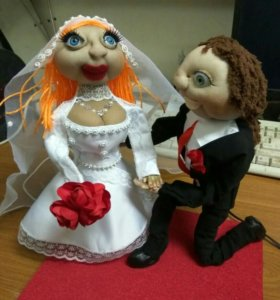 Жених и невеста, подарок на свадьбу.
