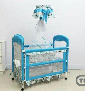 Кроватка +  ортопедический матрац с кокосовой стру