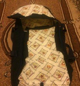 Люлька переноска малыша и рюкзак кенгуру комплект