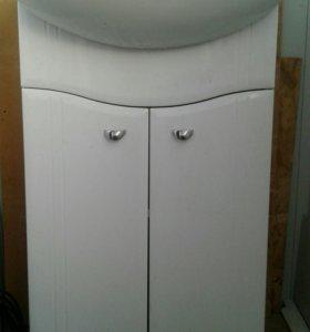 Раковину с шкафчиком