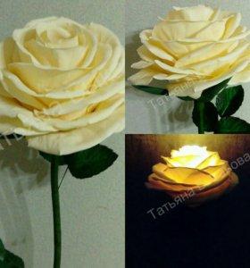 Торшер, бра, светильник, роза