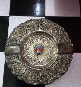 Пепельница серебро
