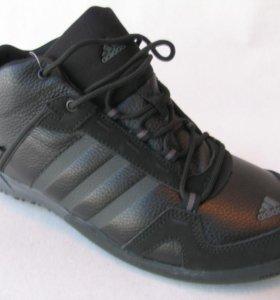 Кроссовки Зимние Adidas Daroga Кожа Мех Ч.43