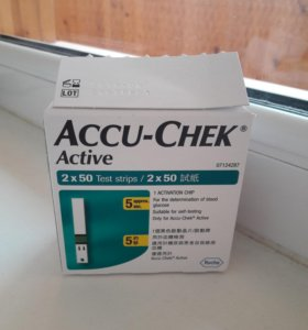 Тест полоски Accu-check Active