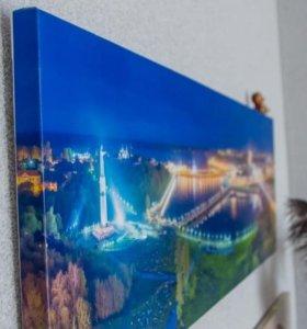 Авторские картины с панорама и города Чебоксары