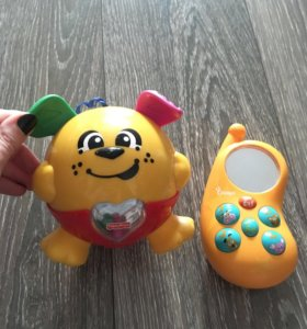 Забавный щенок Fisher Price и музыкальный телефон