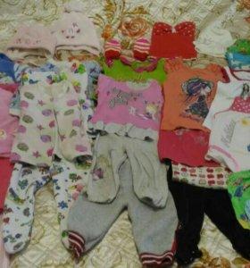 Детские вещи от года для девочки+2 пакета вещей в