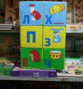 """Мягкие кубики """"Умная Азбука"""""""
