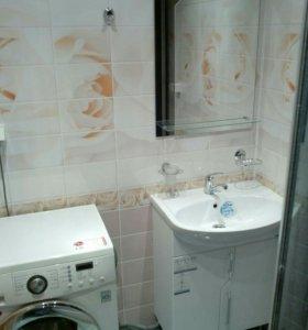 Отделка ванной пластпанелями или плиткой!