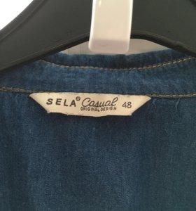 Джинсовая рубашка sela