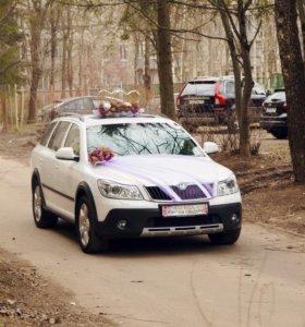 Украшение на автомобиле на свадьбу