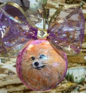 Новогодние ёлочные шары ручная роспись