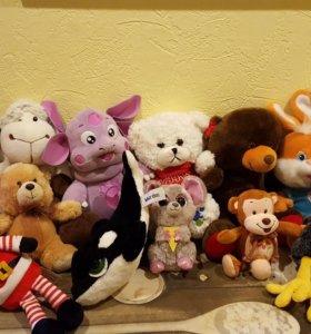 Мягкие игрушки 14 шт.